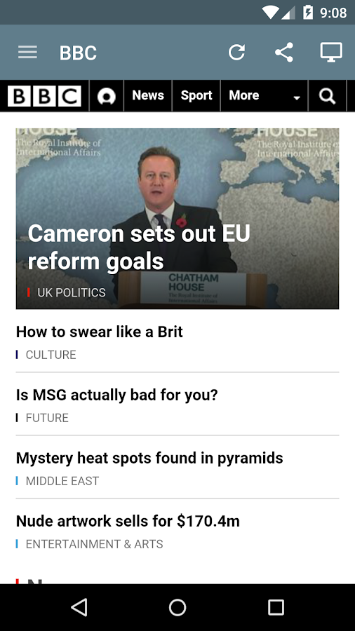 UK Newspapers- screenshot