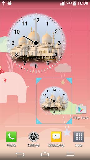 美麗的清真寺時鐘部件