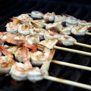 Grilled Lime Garlic Shrimp.