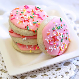 Gluten Free Vegan Soft Frosted Sugar Cookies.