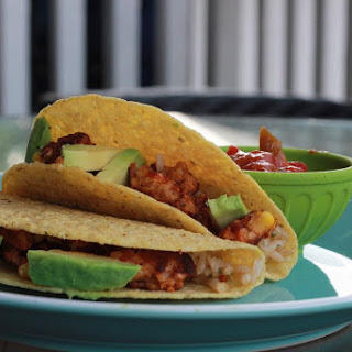 Vegan TVP Tacos.