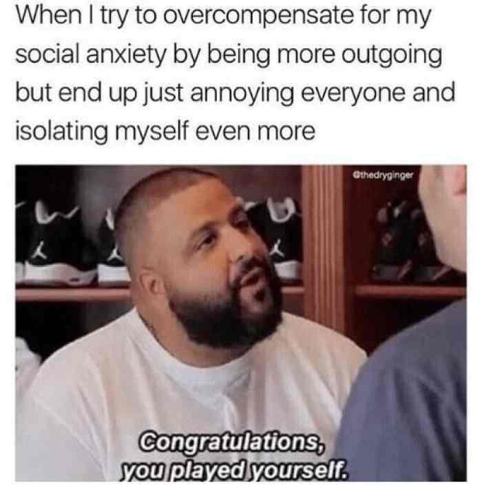Social anxiety memes