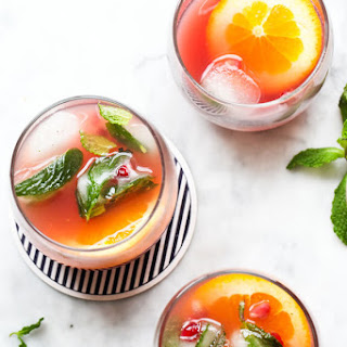 Pomegranate and Orange Champagne Punch.