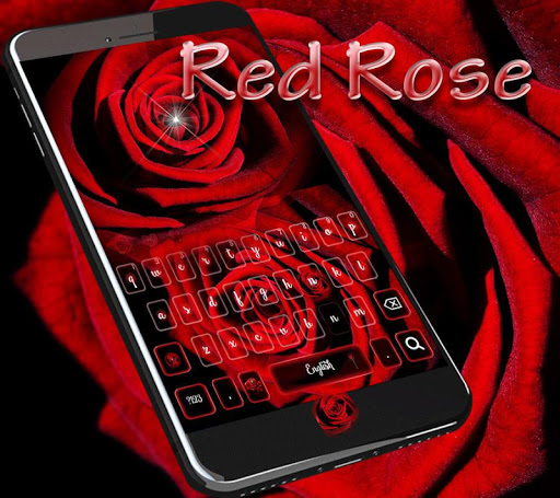 Romantic rose Keyboard theme screenshots 1