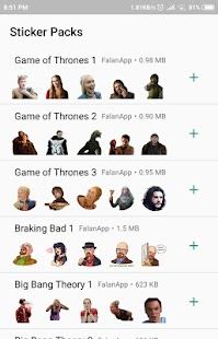 Tv Series Stickers for Whatsapp - WAStickerApps Screenshot