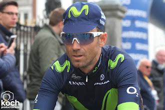 Photo: 16-04-2017: Wielrennen: Amstel Goldrace: ValkenburgMovistar Team, Alejandro Valverde, start, Maastricht