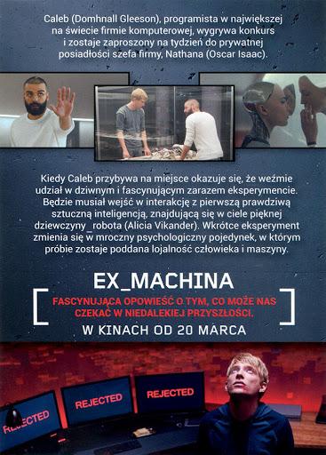 Tył ulotki filmu 'Ex Machina'