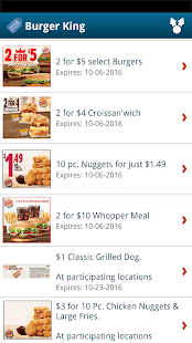 Fast Food Specials & Coupons- screenshot thumbnail