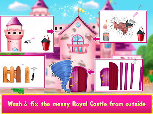 Princess Doll House Cleanup & Decoration Games screenshots 8