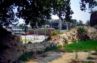 Photo: 30 juli. Italië. Ravenna. Porto Serrata. Rocca Brancale. Station.