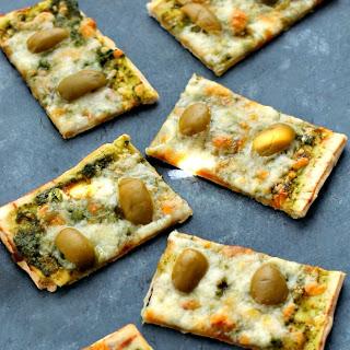 Pesto and Olive Flatbread Recipe