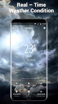 Daily Local Weather Forecast Clock Widget