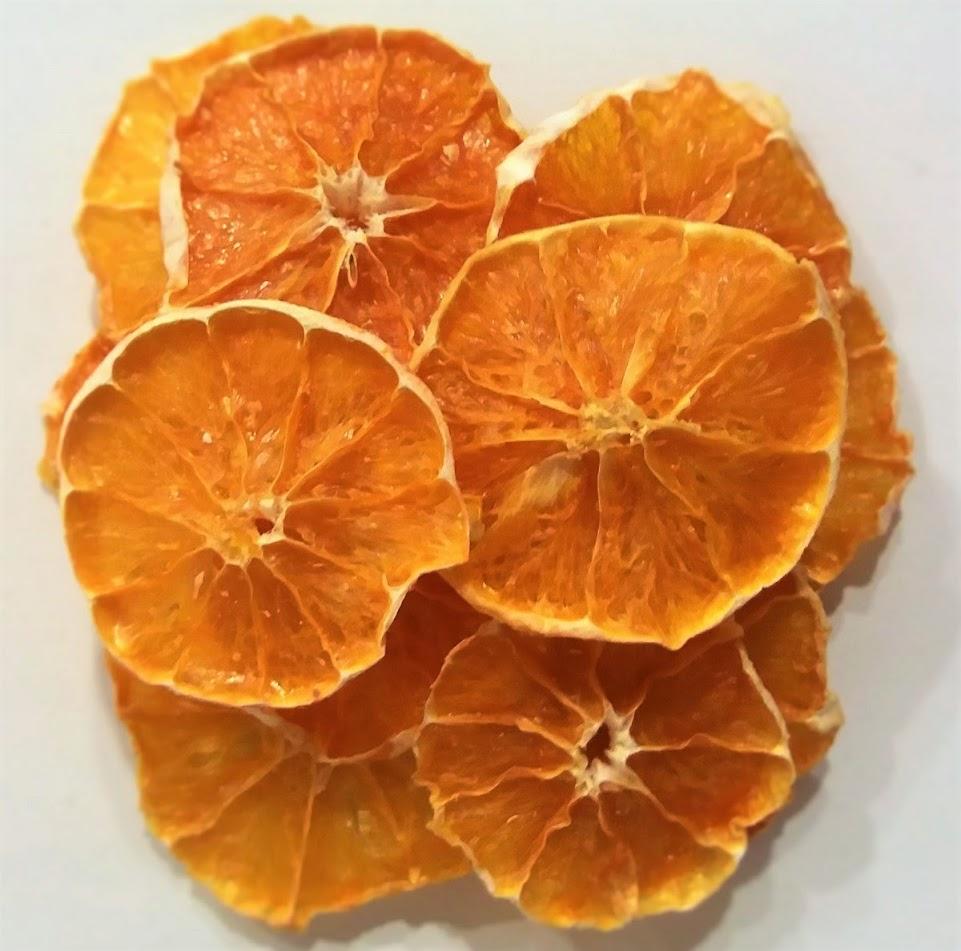 Αποξηραμένο Πορτοκάλι σε φέτες χύμα.  Διατίθεται σε συσκευασίες των: 0.5 και 1kg