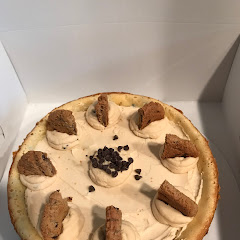 Gluten free chocolate chip cookie dough cheesecake.