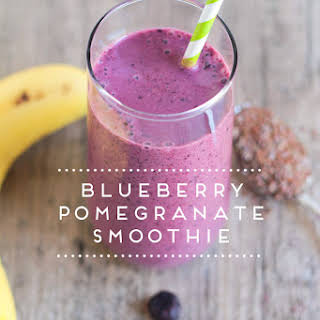 Blueberry Pomegranate Smoothie.