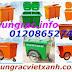 Thùng rác 660L, xe gom rác 660L, xe đẩy rác 660L, thùng rác 660L giá siêu rẻ - www.thungrac,info - 01208652740 Huyền