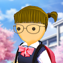 Stickman High School Girl- School Simulator Games icon