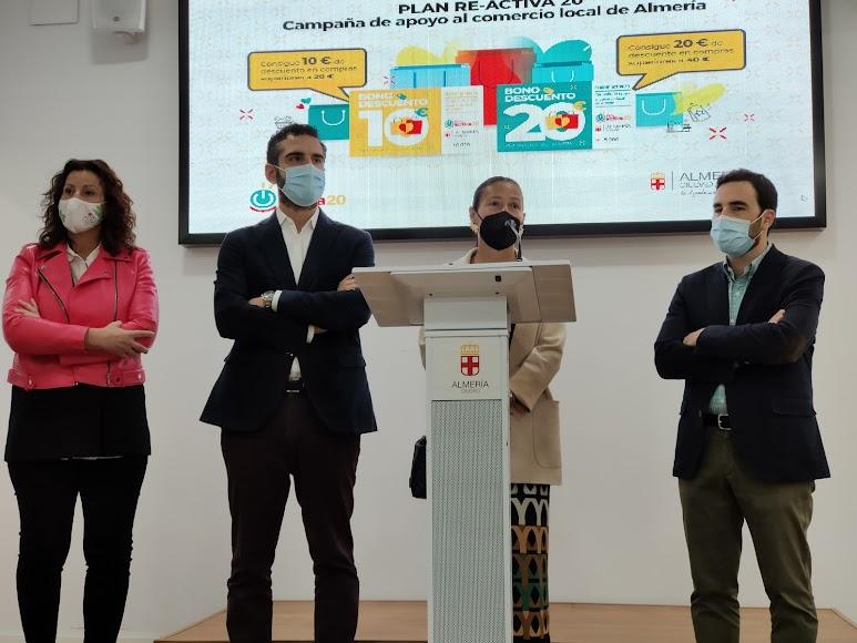Presentación de la campaña de apoyo al comercio tradicional del Ayuntamiento de Almería.