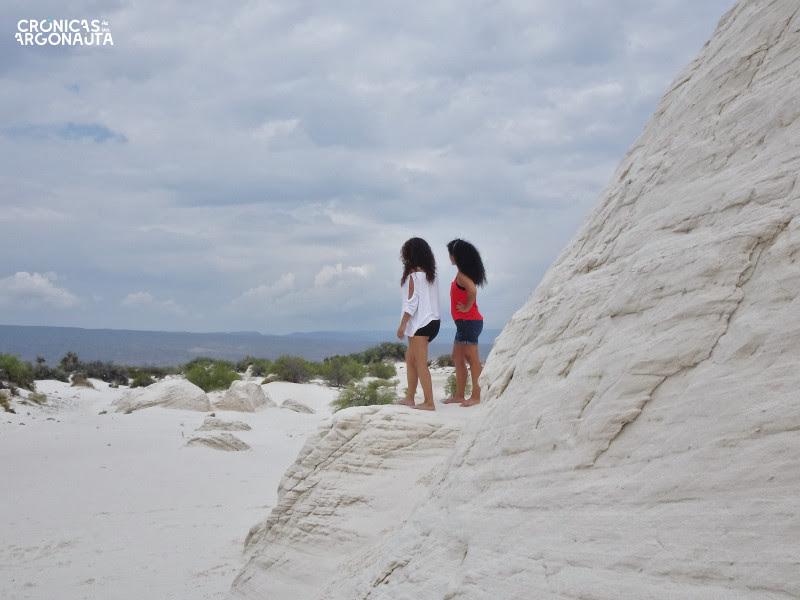 castillo en las dunas de yeso