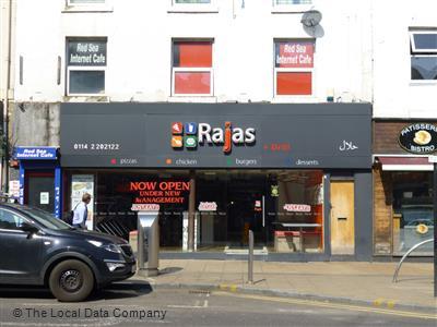 Rajas Pizza Bar On Wicker Pizza Takeaway In City Centre