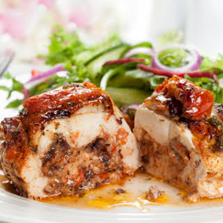 Mozzarella & Tomato-Stuffed Chicken Breasts.