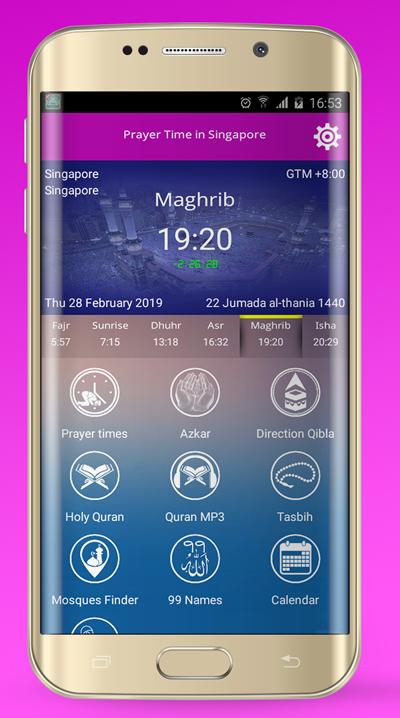 Azan Singapore : Prayer time Singapore 2019 – (Android