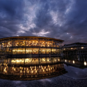 Library by Matthias Weigel - Buildings & Architecture Other Exteriors ( reflection, university, regensburg, library )