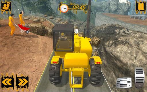 언덕 오르기 도로 건설