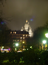 Photo: That night, on the way to dinner (at Le Jardin de Ann et Phil – Ann & Phil's Garden – where we had some very good seafood), we see Sacre Coeur in the distance.