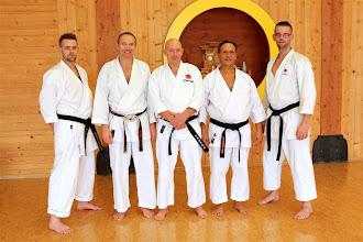 Photo: Sensei Anthon, Sensei Peter, Sensei Jan, Sensei Antonio und Sensei Jan jr.