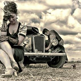 by Soran Sorin - People Fine Art ( glamour, car, old, vintage, lady )