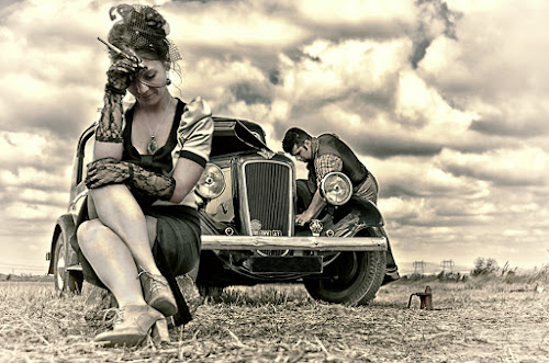 by Soran Sorin - People Fine Art ( glamour, car, old, vintage, lady )