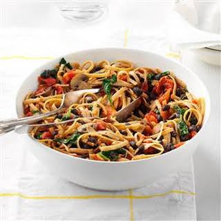 Vegetarian Black Bean Pasta.