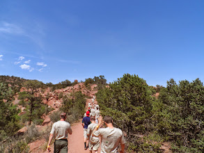 Photo: Marching to Garden of the Gods
