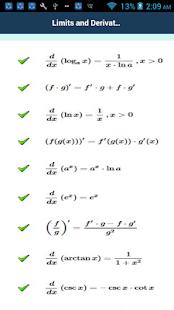 গণিত সূত্রাবলী-Math Formula - náhled