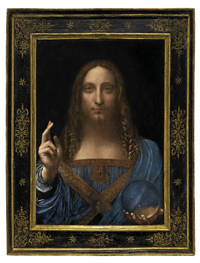 Salvator Mundi, an ethereal portrait of Jesus Christ which dates to about 1500, and the last privately owned Leonardo da Vinci painting, sold for a record price in New York on November 15 2017. Picture: CHRISTIE'S NEW YORK VIA REUTERS
