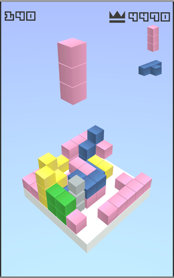 7x7x7 - 3D block puzzle game- screenshot