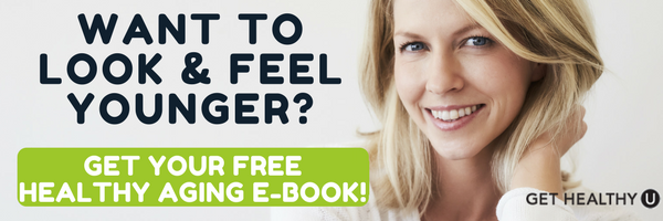 "Banner which reads: ""Want to look and feel younger? Get your free healthy aging e-book!"""