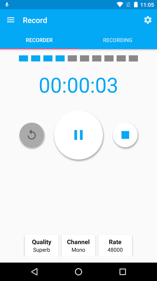 Audio Recorder and Editor: captura de pantalla