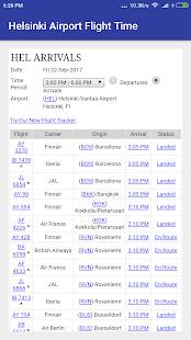 Helsinki Airport Flight Time - náhled