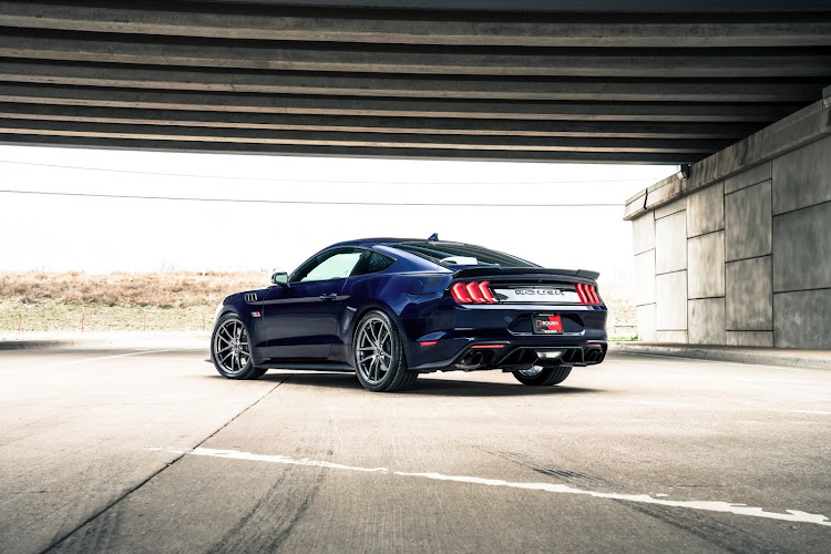 A Roush TVS2650 supercharger lifts power output to 560kW and 910Nm