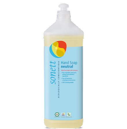 Sonett Ekologisk flytande tvål REFILL Sensitiv (parfymfri) 1L