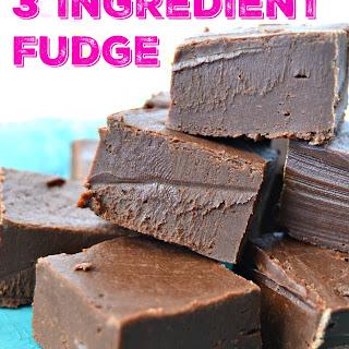 3 Minute 3 Ingredient Microwave Fudge Recipe