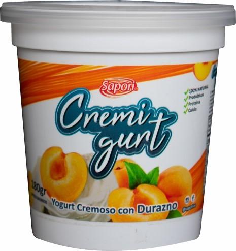 Yogurt Cremoso Cremigurt Durazno 180Gr