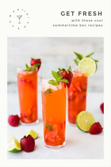 Fresh Summertime Recipes - Pinterest Pin Template