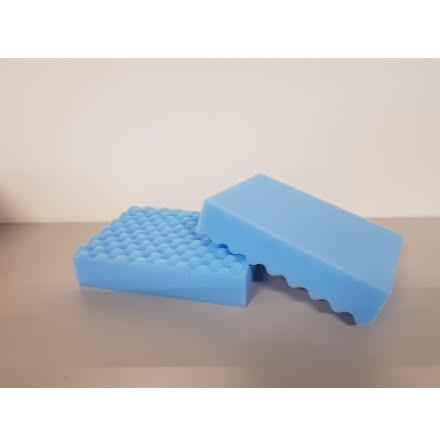 Våfflad Tvättsvamp Blå
