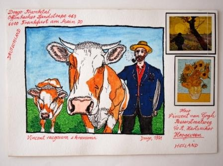 Vincent Talks to Cows (Dear Vincent / Correspondence with Van Gogh series)
