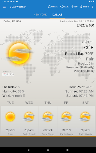 Weather & Clock Widget for Android screenshot 10