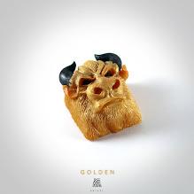 Artkey - Bull - Golden