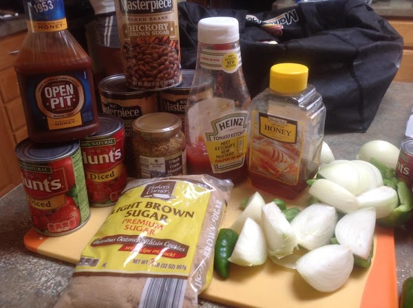 PREHEAT OVEN TO 350 DEGREES F. These are most of the main ingredients used...